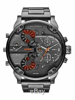 Diesel The Daddies DZ7315 Grey Dial Gunmetal Ion-plated Chronograph Men's Watch
