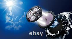 EQS-900CL-1A CASIO EDIFICE Black Ion Plated Solar Carbon Fiber Dial Solar Power