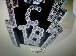 Elvis Presley Tcb 18k Gold Plated Crystal Ring Whole Sizes 8-13 Brand New