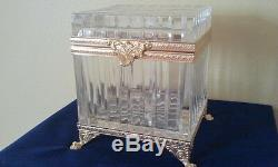 Fabulous FABERGE CRYSTAL & 24k GOLD plated mulifunctional box, authentic