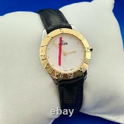Fendi Womens Orologi Gold Plated Stainless Steel Leather Watch 2000L