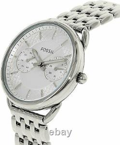 Fossil Women's Tailor ES3712 Silver Stainless-Steel Plated Japanese Quartz Fa