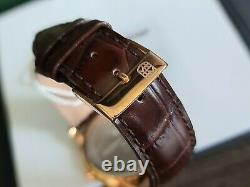 Frederique constant watch slimline quartz leather rose gold plated new in box