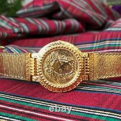 GIANNI VERSACE SIGNATURE Medusa Gold Plated G10 Men's Watch with box from 1993