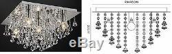 Genuine Crystal Flush Ceiling Light Fitting Chandelier Living Room Home Decor BN
