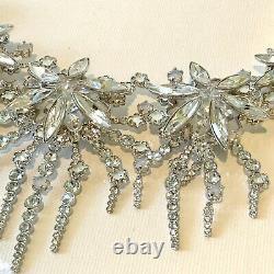 Genuine Swarovski Floral Necklace Rhodium Plated Sparkling Strandage Boxed