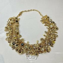Genuine Swarovski Nemesia Necklace Gold Tone Sparkling Boxed 5435560