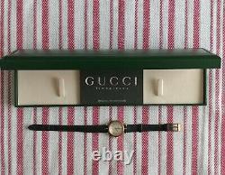 Gucci Ladies Watch 2040L New Battery Gold Plated Case & Quartz Movement