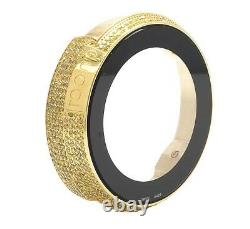 Gucci Yellow Gold Plated Canary Diamond Case for I Gucci Digital Watch YA114 4Ct