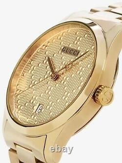 Gucci watch G-Timeless 38MM UNISEX Gold PVD plated mod. YA126461A