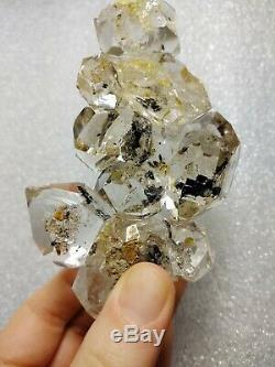 Herkimer Diamond Large Cluster Metaphysical Crystal Nice Black Plates Clear