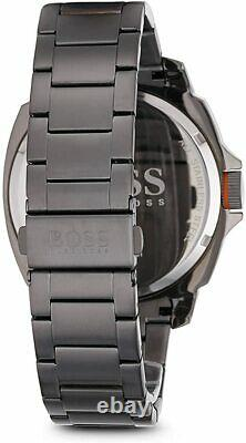Hugo Boss Men's Orange Brisbane Gray Ion-Plated Stainless Steel 46mm Watch