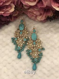 Indian/Pakistani Earrings Ethnic Gold Plated Bollywood Jhumka Wedding Jewelry