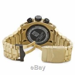 Invicta 14432 Men's Ltd Ed Jason Taylor Bolt Reserve Chrono 18k Gold Plated SS