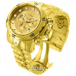 Invicta 14503 Men's Venom Gold Dial Gold Plated Bracelet Chronograph Dive Watch