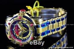 Invicta 39mm Limited Edition DC Comics WONDER WOMEN Bolt 18k Gold Plated Watch