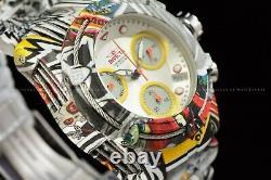Invicta 42mm Bolt HydroPlated Aqua Plated GRAFFITI Multicolor Swiss Chron Watch