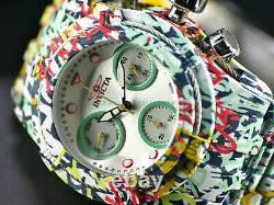 Invicta 42mm Bolt Zeus Hydro Aqua Plated GRAFFITI Multicolor Swiss Chrono Watch