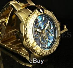 Invicta 47mm Subaqua Noma II ABALONE Dial Ltd Ed 18K Gold Plated Bracelet Watch