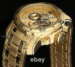 Invicta 48mm Men's Pro Diver Chronograph 18k Gold-Plated Stainless Watch
