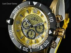 Invicta 48mm ProDiver GOLD Dial Scuba Quartz Chronograph 18K Gold Plated Watch