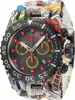Invicta 50mm SubAqua HydroPlated Aqua Plated GRAFFITI Swiss Multicolor Watch