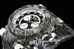 Invicta 51mm Coalition Forces Graffiti Hydro Plated Swiss Greyscale Panda Watch