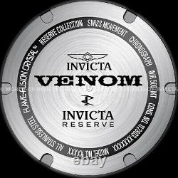 Invicta 52MM RESRVE HYBRID VENOM Master Calendar SWISS MOVT 18K Gold Plated Watc