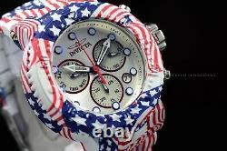 Invicta 52mm HydroPlated Aqua Plated Star & Stripes USA Flag Swiss Movmt Watch