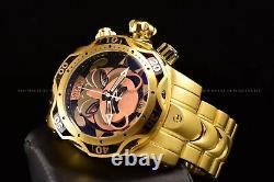 Invicta 52mm Reserve Venom BullDog Swiss Chronograph Gold Plated Bracelet Watch