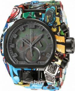 Invicta 52mm Zeus Bolt Magnum HydroPlated Aqua Plated GRAFFITI Multicolor Watch