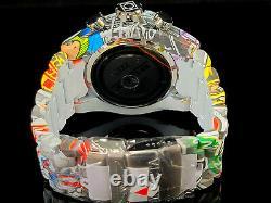 Invicta 53mm Bolt HydroPlated Aqua Plated GRAFFITI Swiss Multicolor Chron Watch