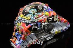 Invicta 53mm Bolt HydroPlated Aqua Plated GRAFFITI Swiss Multicolor Watch
