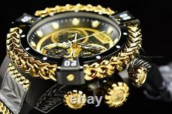 Invicta 53mm Reserve Bolt Hercules Swiss Gold Plated Black Chrono Silicon Watch