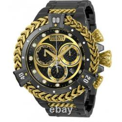 Invicta 53mm Reserve Bolt Hercules Swiss Gold Plated Black Chronograph SS Watch