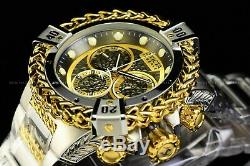 Invicta 53mm Reserve Bolt Hercules Swiss Silver Plated Gun Metal Chrono Watch