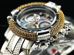 Invicta 56mm Subaqua Poseidon AGE of EMPIRE Swiss 18K Gold Plated Ring MOP Watch