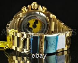 Invicta 63mm Reserve Grand Octane SWISS Chronograph 18K Gold Plated Watch NEW