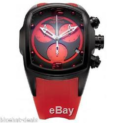 Invicta 6728 Men's Watch Lupah Collection Chronograph Black Ion Plated Red Band