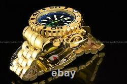 Invicta 70mm Full Sea Hunter High Polished 18k Gold Plated Swiss Blue Dial Watch