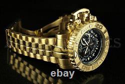 Invicta 70mm Sea Hunter GEN II Swiss Movt Chronograph 18K Gold Plated Watch NEW
