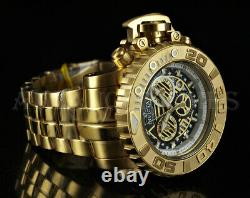 Invicta 70mm Sea Hunter SWISS Chronograph 18K Gold Plated Stainless Steel Watch