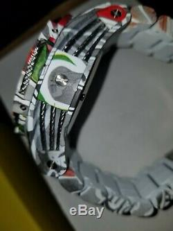 Invicta Bolt Aqua-Plated Mens Graffiti 53mm bracelet watch Chrono- Model 31622