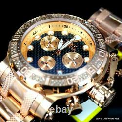 Invicta Coalition Forces. 56 CTW Diamond Rose Gold Plated Chrono 52mm Watch New