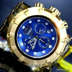 Invicta Grand S1 Rally Blue 54mm Chronograph 18kt Gold Plated Steel Watch New