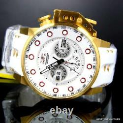 Invicta I Force Bomber White Gold Plated 50mm Chronograph 25274 Watch New