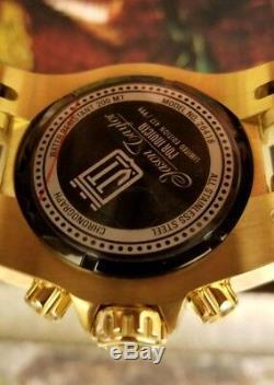 Invicta Jason Taylor Chaos Gold Plated 52mm Quartz Chronograph LE Bracelet Watch