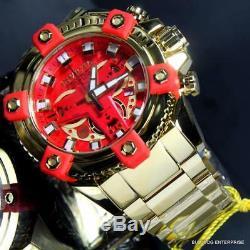 Invicta Marvel Iron Man Grand Octane High Polish Gold Plate 58mm Swiss Watch New