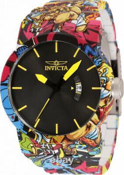 Invicta Men 46mm DNA URBAN HydroPlated Aqua Plated GRAFFITI Multicolor Watch