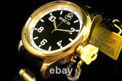 Invicta Men 52MM Russian Diver 18 K Gold Plated SPECIAL EDITION Black Dial Watch